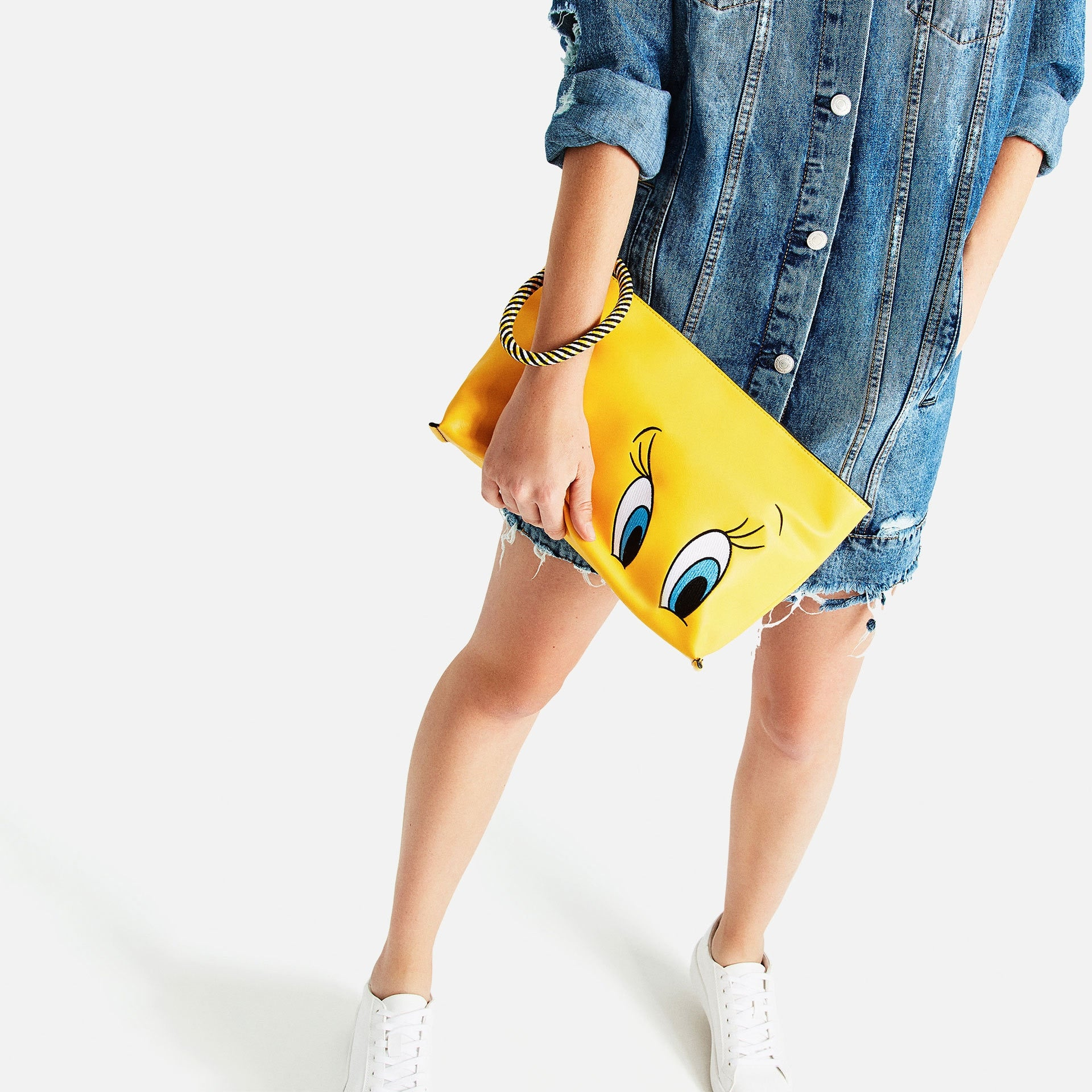 Yellow Duck Big EYES Clutch Fashion Leather Women Handbag Bags Not New Clutch Designer Cute Gril Summer Handbag for Women