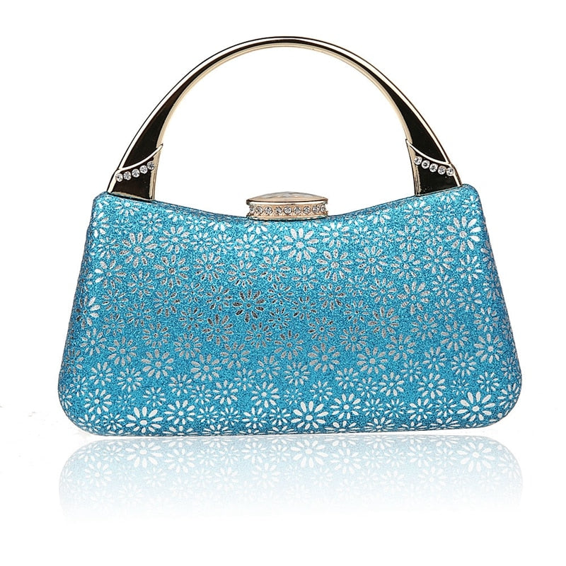 HOT 2016 Noble Light Blue China Womens Wedding Evening Bag Clutch handbag Mujer Bolso Stylish Bride Party Purse Makeup Bag F906A