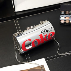 Creative Cans Diamonds Women Shoulder Bags Designer Cola Can Shape Chains Female Crossbody Bags Chic Ladies Evening Clutch Purse