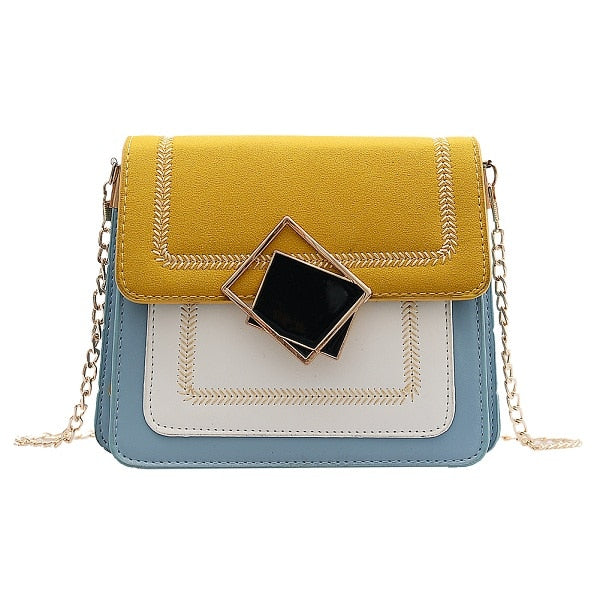 Flap Chain PU Leather Crossbody Bag For Women 2019 Small Shoulder Messenger Bag Special Lock Design Casual Female Travel Handbag