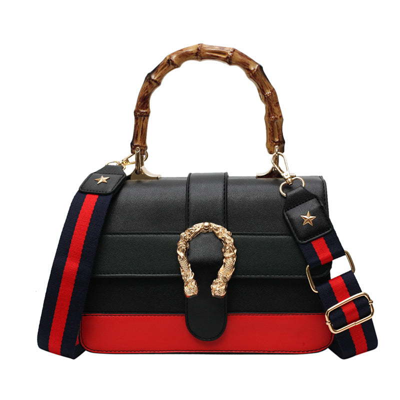 Bamboo Top-Handle Women Handbag Luxury Designer Tote Purse Fashion Women Shoulder Bag Leather Crossbody Bag For Women 2019 Black