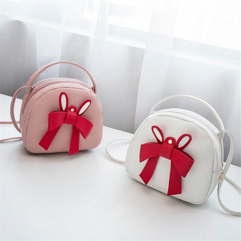 Fashion New Design Pink Bow Girl Heart Bag Simple Wild Handbag Trend Shoulder Slung Clutch Hot Sale High Quality