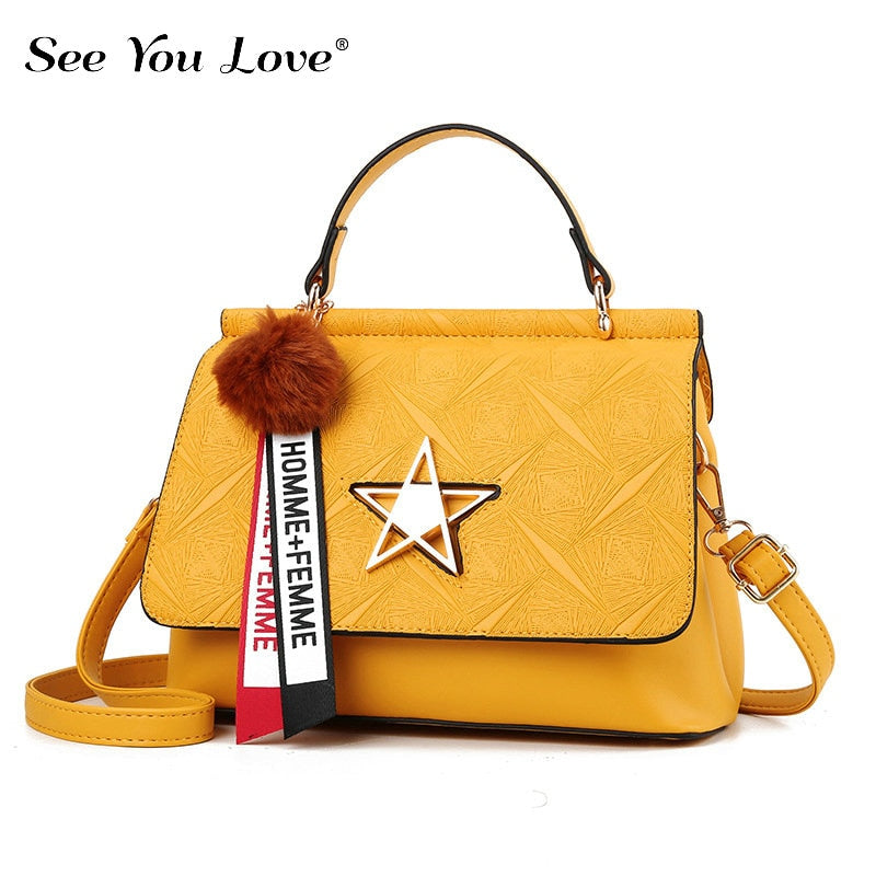 New Fashion Zipper Ladies Crossbody Bags For Women 2019 Yellow Luxury Flap Handbags Leather Clutch Woman Messenger Shoulder Bag