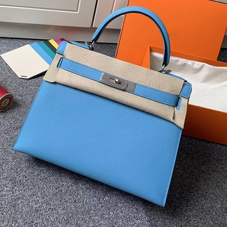 2019 luxury handbags woman bags designer genuine leather runway female Europe brand top quality 25cm