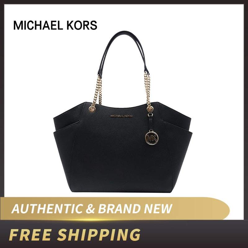 Authentic Original & Brand new Michael Kors Women's Jet Set Travel Saffiano Chain Shoulder Tote bag 35F9GTVE4L/35F9GTVE4B