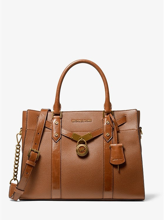 Michael Kors Nouveau Hamilton Large Pebbled and Crinkled Leather Satchel Bag Women Tote Shoulder Messenger Bags Handbags MK004