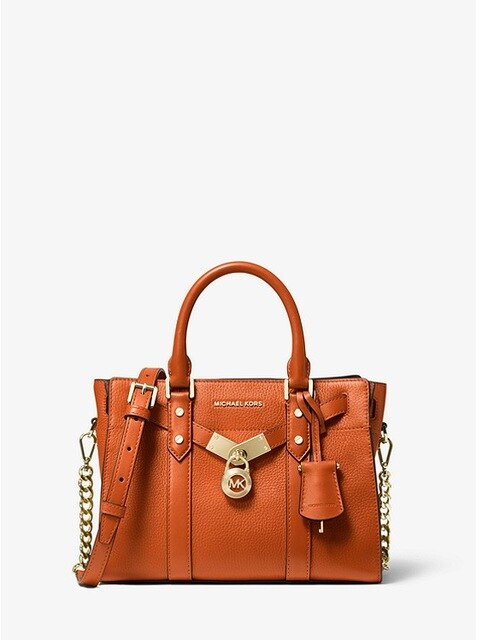 Michael Kors Nouveau Hamilton Small Pebbled Leather Satchel Women's Luxury Bag Ladies Handbags Brand MK005