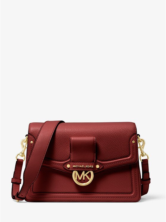 Michael Kors Jessie Medium Pebbled Leather Shoulder Bag Women Luxury Brands Messenger Bags Handbags MK003