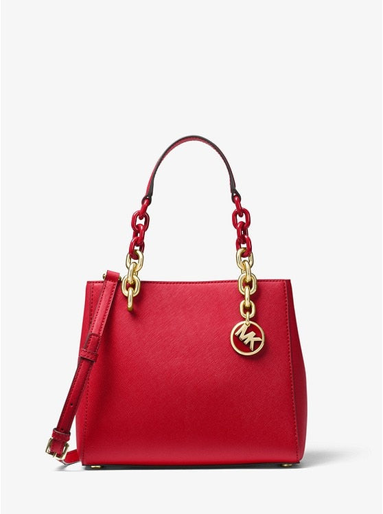 Michael Kors Cynthia Small Saffiano Leather Satchel Fashion Women's Luxury Leather Clutch Bag Ladies Handbags Brand MK007