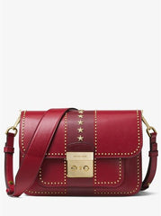Michael Kors Sloan Editor Studded Leather Shoulder Bag Messenger Bags Handbags Luxury Women Shoulder Messenger Bag MK001