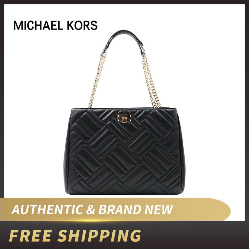 Authentic Original & Brand new Michael Kors Peyton Leather Large Convertible Tote 35F9GP6T3L