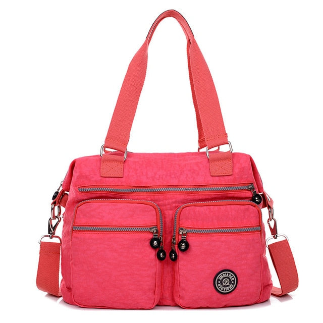 Women's waterproof nylon cross body shoulder bag