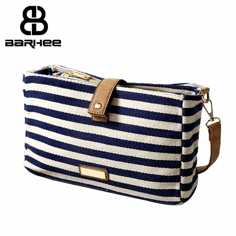 Natural Cotton Woman Bag 2017 Zebra Stripe Canvas Women Messenger Bag Necessaire Casual Travel Shoulder Hand Bag High Quality