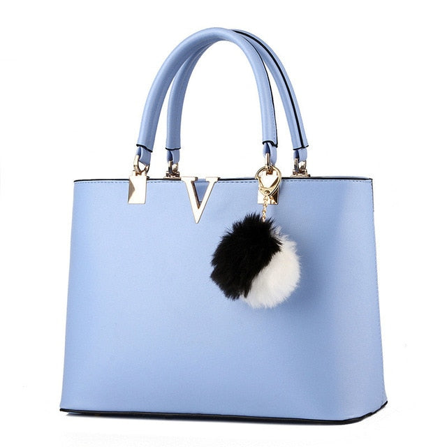 MONNET CAUTHY Bags Woman Concise Leisure Fashion Socialite Sweet Handbag Candy Color Blue Lavender Pink White Red Top Handle Bag