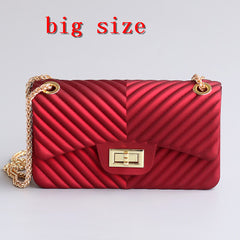 purse handbag V texture gold chain bag red PVC Women Bags pochette sac femme Women Shoulder Bags sac a main femme crossbody bags