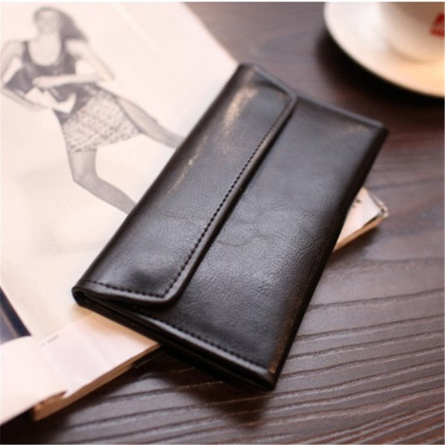 Magnetic Buckle Long Genuine Leather