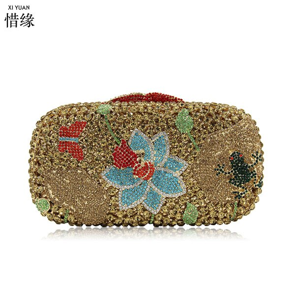 XIYUAN BRAND Fashion Small Women Wallets Female diamond crystal Coin Purse Pockets Mini day cluthes for wedding Bridesmaids