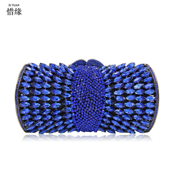 XIYUAN BRANd blue Clutch Evening Bag Diamonds red Clutches Shoulder Bag For Wedding/Dating/ Purse Bag For Party Wedding Handbag