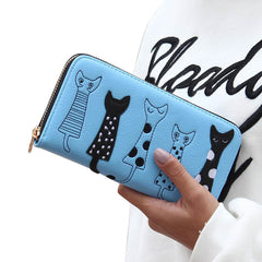 Luxury High Quality Women Cat Cartoon Wallet