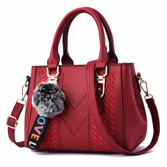 MONNET CAUTHY Female Totes Concise Leisure Fashion Office Ladies Handbags Solid Color Navy Blue Wine Red Khaki Crossbody Bags
