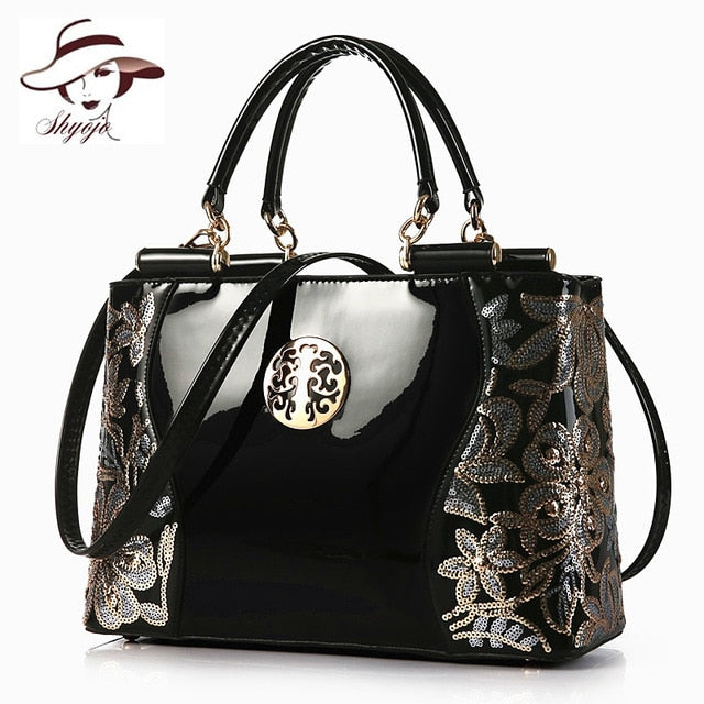 2018 Large Capacity Women Handbag Fashion Classic Party Business Messenger Bags Black Leather Evening Bag Ladies Shoulder Totes