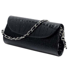 TEXU Crocodile Pattern women Chain bag Designer handbag cluth faux Leather Evening Clutches party Shoulder Bag bolsas