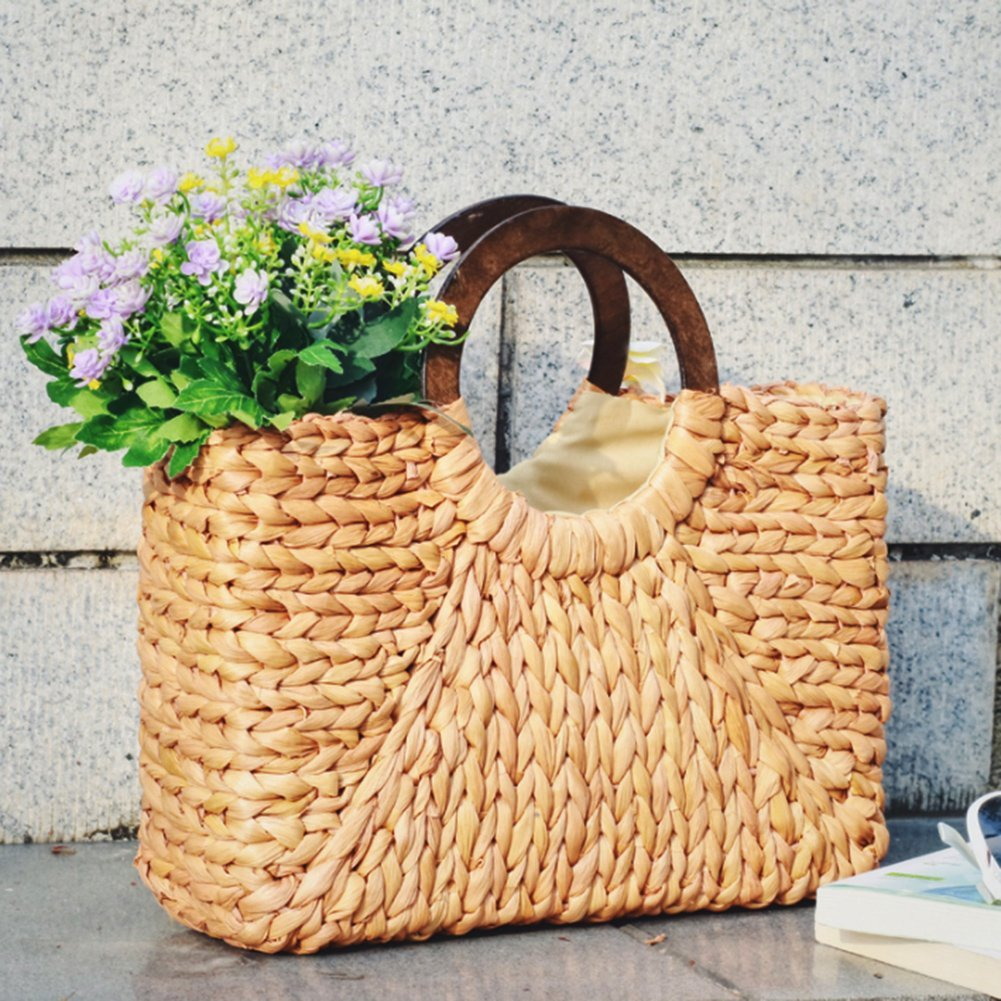 Women Fashion Straw Handbag