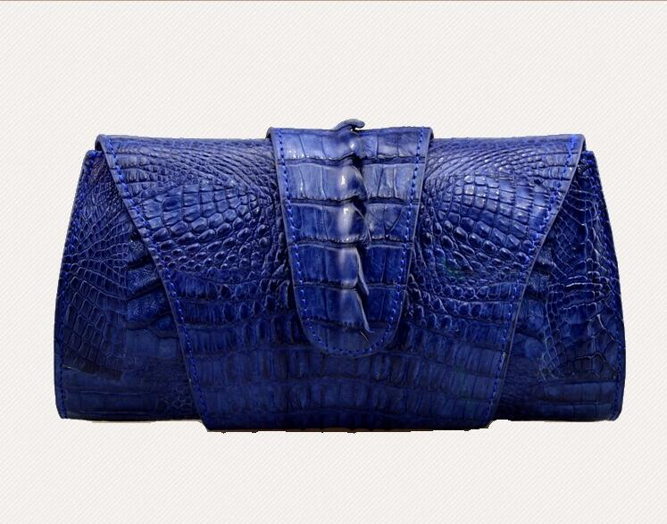 100% genuine crocodile leather skin women clutch wallet, 2016  fashion alligator skin women  Evening clutch cross body bag