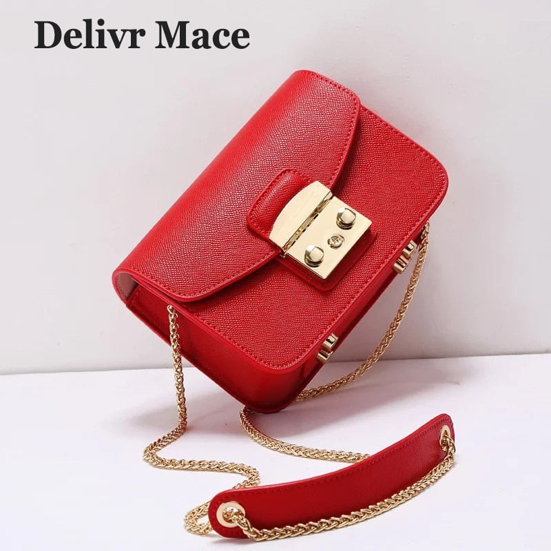 Red Mini Bag Women Shoulder Bag Fashion Flap Leather Cross Body Bags Women 2018 Newest Female Messenger Bags Bolsa Feminina
