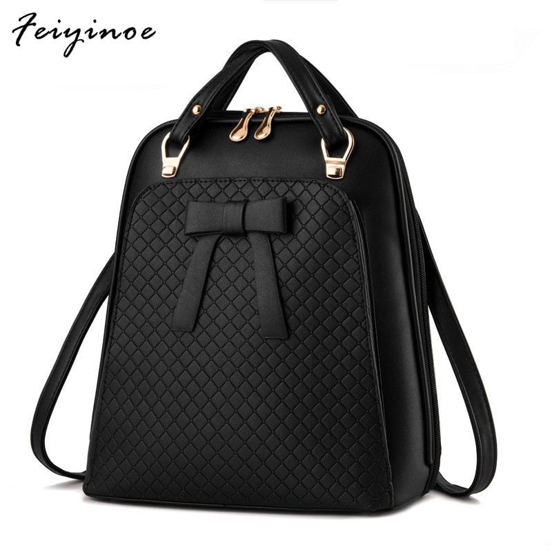 Ladies Backpack Shoulder Bag Women School Backpacks Schoolbag For Teenagers Students PU Leather backpack