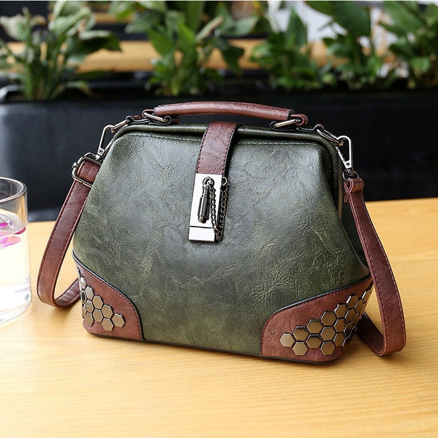 Women Handbag Leather Small Doctor Bag