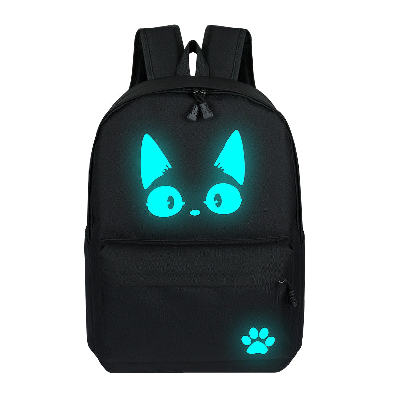 High School Backpacks For Teenager Luminous Bags Large Size Capacity Travelling Bag For Student Cute Cat Backpack Daily Book Bag