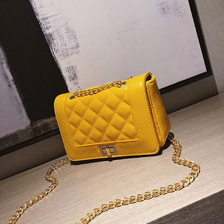 Leather Quilted Bag Women Crossbody Shoulder Bags Lady Designer Brand Women Messenger Bags Small Girl Balck White Yellow