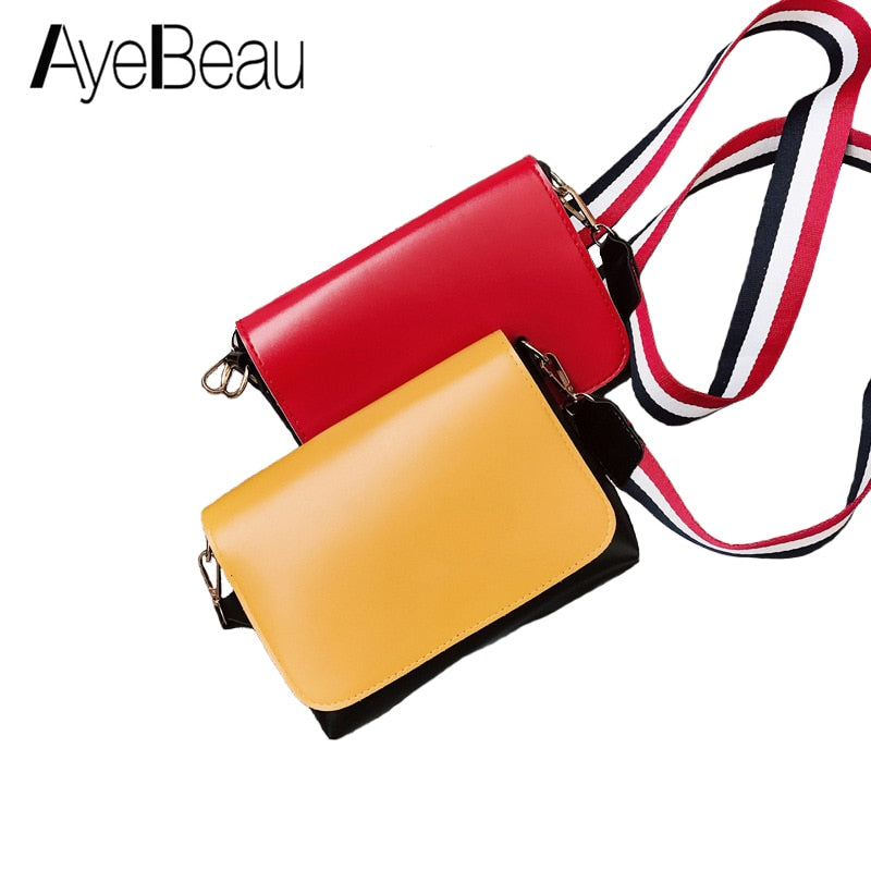 Fashion Red Yellow Small Lady Female Flap Cross Body Shoulder Crossbody Messenger Bag For Women Handbag 2018 Sholder Bolsas Sac