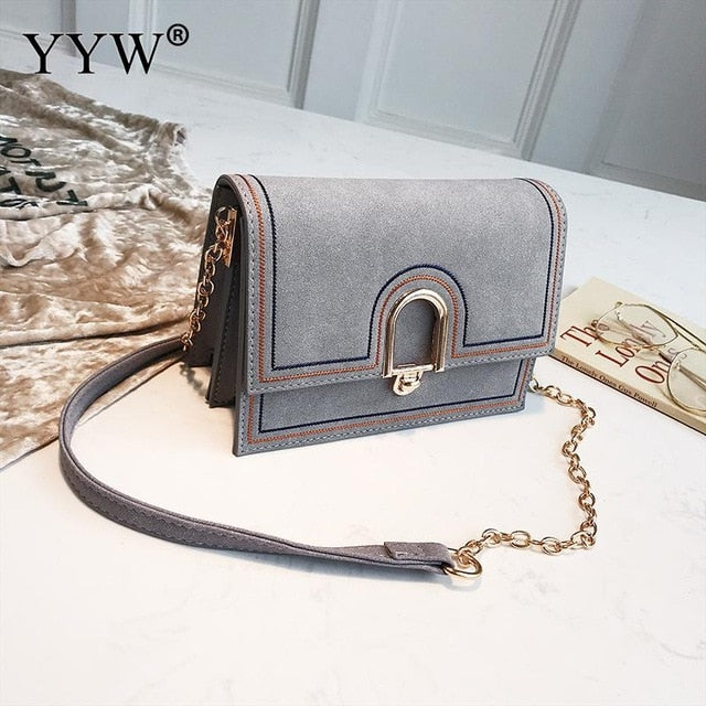 Yellow Crossbody Bag For Women Pu Leather Sling Shoulder Bag Dull Polish Rectangle Solid Ladies Bolsa Feminina 2018 Designer Bag