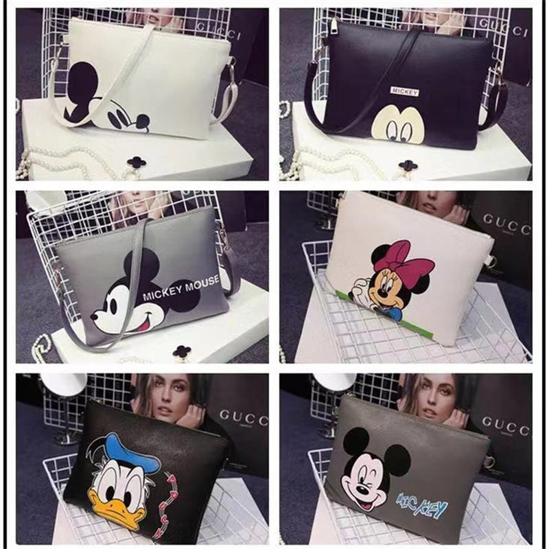 Fashion Designer brand bag ladies quality Mickey handbag uniform solid shoulder bag mini bag lady messenger wallet and hand bag