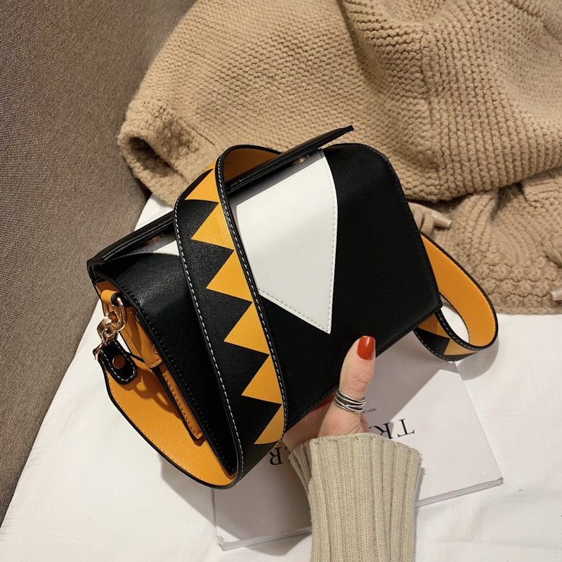 Geometric Patterns Small Crossbody Bags For Women 2019 With Personality Shoulder Strap Ladies Crossbody Bag Female Handbags