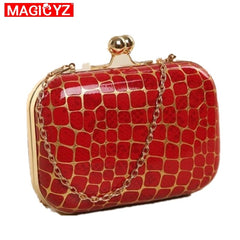 MAGICYZ Plaid Party Clutch Evening Bag Diamonds Clutches Red Plaid Shoulder Bag For Wedding/Dating/Party Purse Shoulder Bag