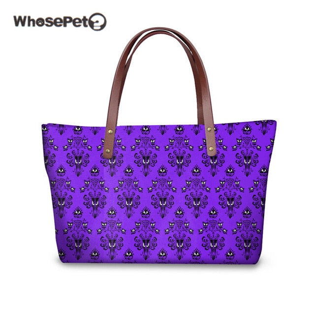 WHOSEPET HAUNTED MANSION Ladies Top-handle Bags Brand Women Shoulder Bag Female Handbags Fashion Clutch Bag Sac Feminina Purple