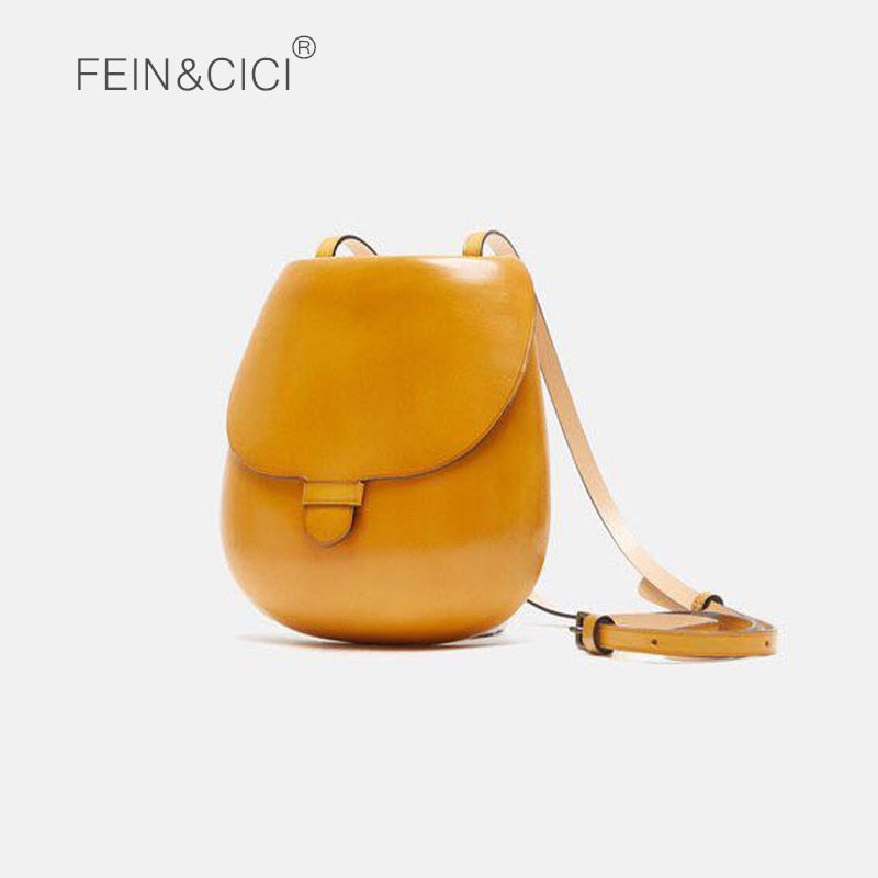 Brand saddle bag women cute small crossbody bag female retro vintage messenger round purse high quality 2018 new yellow black