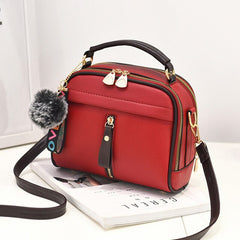 2018 Luxury Handbags Women's Bags Designer Leather Shoulder Bags Female Cheap Crossbody Messenger Bags Fashion Red Small Flap