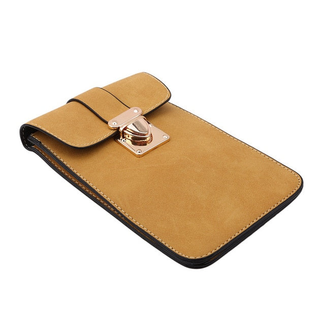 Women Leather Messenger Bag Mini Cell Cellphone Pouch Student Crossbody Case Clutch Purse Wallet Girl Small Shoulder Bag Handbag