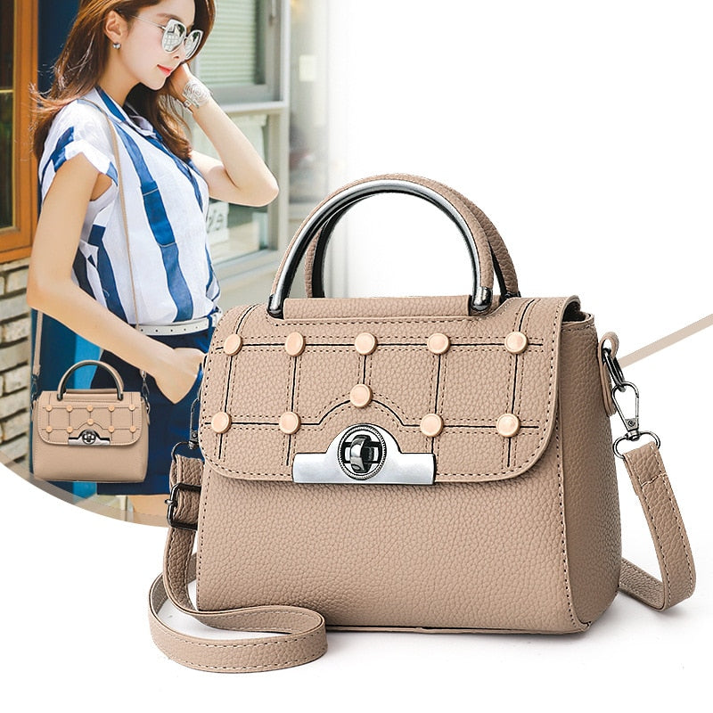 High Quality Messenger Bag for Women PU Leather Handbags Luxury Quality Female Shoulder Bags Famous Women Designer Flap Bags
