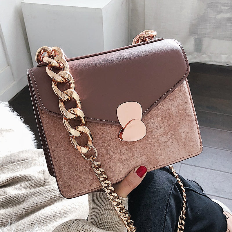 Luxury Handbag Retro Fashion lady Square bag 2019 New Quality PU Leather Women's Designer Handbag Chain Shoulder Messenger Bags