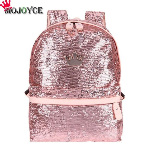 Shining Sequins Backpack Women 2019 Sac a Main Travel Small Backbag Leisure Trend School Bags for Teenage Girls Bolsa Feminina