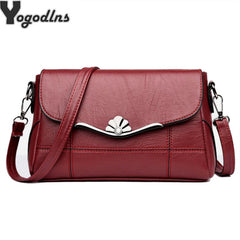 Women Bags Designer Shoulder Bag Fashion Handbag and Purse PU Leather Crossbody Bags for Women 2019 New Black&Red
