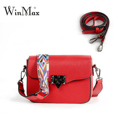 2019 Winmax Red Beautiful Shoulder Bag Women 3 Layer Black Handbag Hotsale Party Purse Ladies Messenger Crossbody Bags for Girls