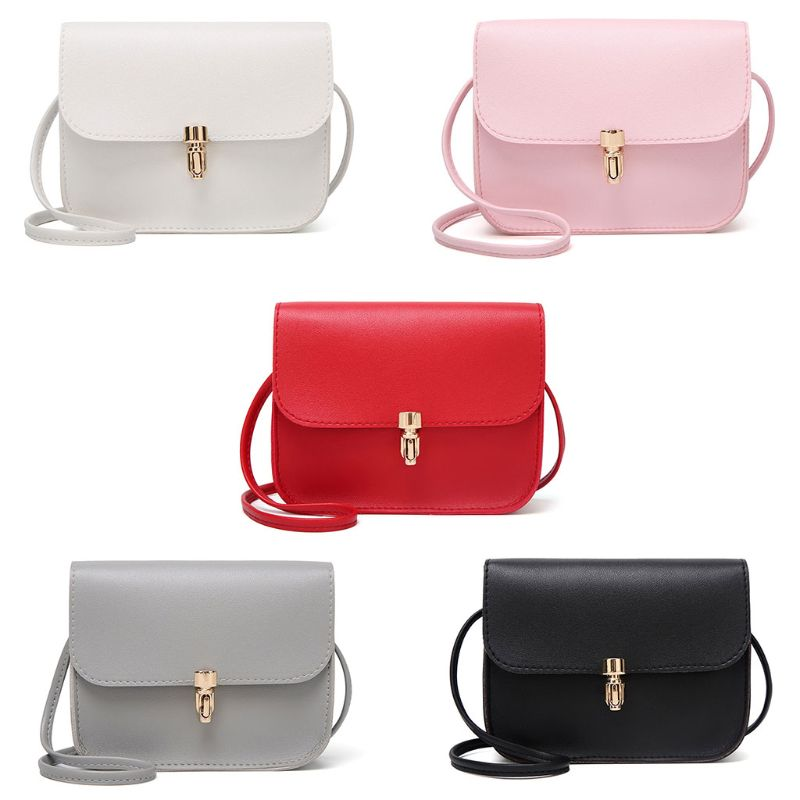 Women Girls Leather Small Handbag Satchel Messenger Cross Body Shoulder Bag Purse