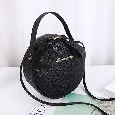 Designer Crossbody Bag For Women Top Handle Women's Handbag PU Leather Small Round Bags Dinner Clutch Purse Bolso femenino 2019