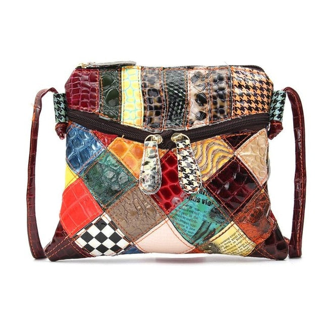 AEQUEEN Colorful Shoulder Bags For Women Messenger Bag Patchwork Small Flap Bags Design Crossbody Bolsas Feminina Bright Color